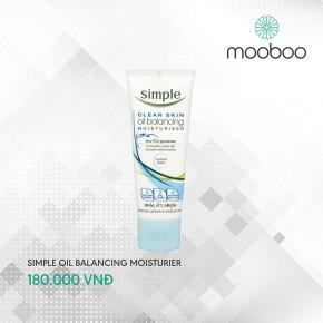 Kem dưỡng kềm dầu Simple Clear Skin Oil Balancing Moisturiser 75ml