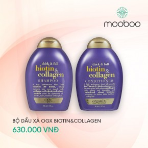 Bộ dầu gội xả OGX Thick & Full Biotin & Collagen