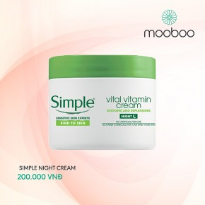Kem dưỡng da ban đêm Simple night cream
