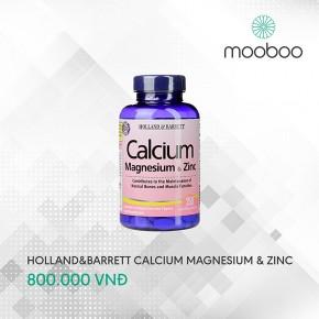Holland & Barrett Calcium Magnesium & Zinc 250 viên