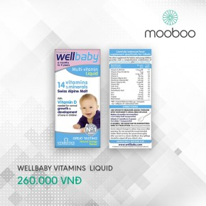 Vitamins Wellbaby Multi-vitamin Liquid cho bé